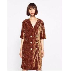 🖤SALE🖤 Zara - Crushed velvet mini dress